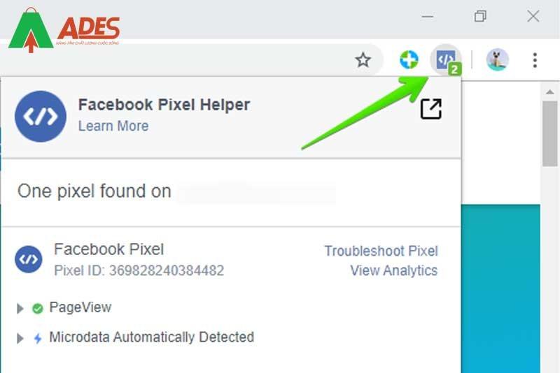 Facebook Pixel Helper se cho ban biet pixel co dang hoat dong tot hay khong